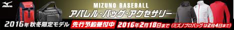 MIZUNOBASEBALL 2016年秋冬限定モデル!