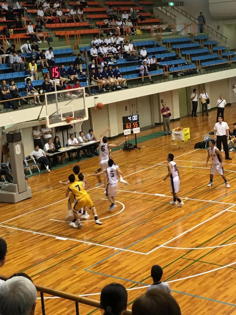 県総体決勝。バスケット!
