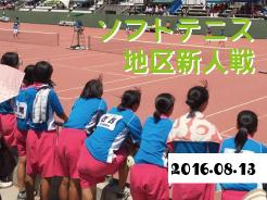 ソフトテニス地区新人戦