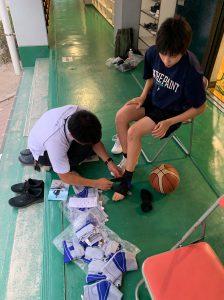 広島観音高校女子バスケットボール部様に訪問!!